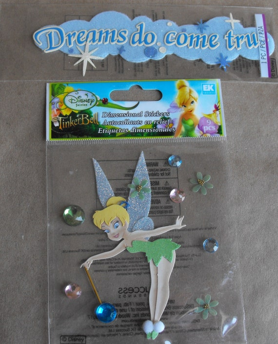 Disney Tinker Bell stickers Dreams do Come True by Jolees Scrapbooking Card Making Paper Crafting