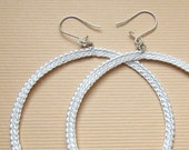 Wedding Round Crochet Earrings - women jewelry - 1001ArtBeads
