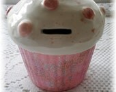 Cupcake Bank with Rose