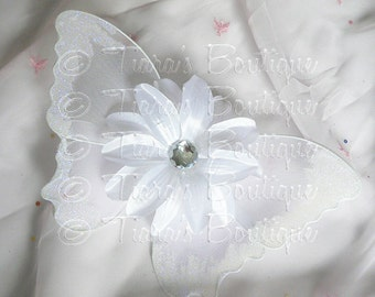 White Baby Butterfly Wings - Infant Fairy Wings for Halloween - newborn to 12 months - Photo Prop - Prop for Newborn Photography
