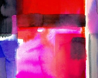 Abstraction Series . 219 ... Original abstract watercolor art ooak painting by Kathy Morton Stanion  EBSQ