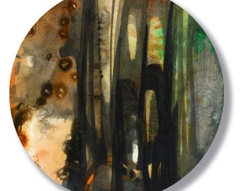 Circle Abstraction Series ... No. 38 ... Original Contemporary Modern circle painting by Kathy Morton Stanion EBSQ