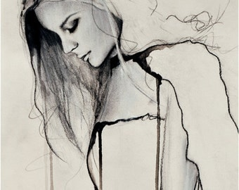 Fade - Fashion Illustration Art Print