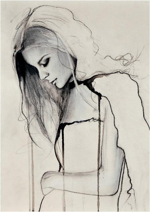 Fade - Fashion Illustration Art Print
