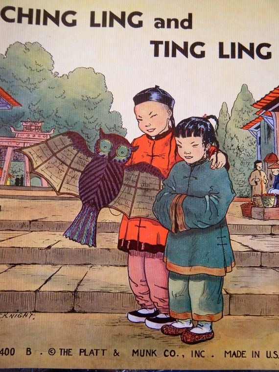 Ching Ling and Ting Ling 1930s Book Children of Foreign Lands Illustrated