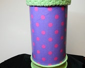 Multi-Purpose Storage Canister - Pink Polka Dots