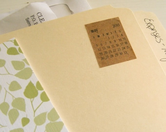 kraft mini monthly stickers