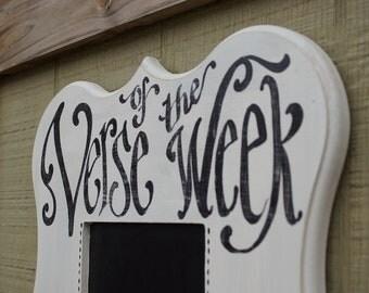 Verse of the Week Chalkboard Talia Frame