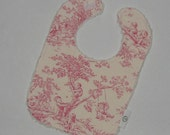 Pink Central Park Toile and Chenille Boutique Bib
