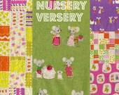 5 Fat Quarters Nursery Versery by Heather Ross Fabrics Japanese Import