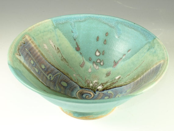 Noodle Bowl in turquoise glaze, , Ramen, salada, soup, hand thrown pottery