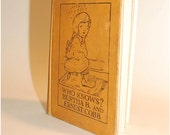 1924 first edition Who Knows A book of Puzzle Stories by Bertha B. and Ernest Cobb