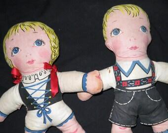 Vintage Stuffed Rag Dolls