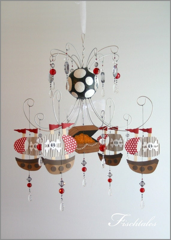 Baby Bedroom Chandeliers: Items Similar To Pirate Ship Chandelier Mobile- Baby