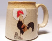Rooster Stoneware  Coffee  Mug Limited Series 78 (microwave safe) 12 oz