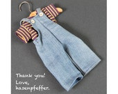"Hasenpfeffer ""Thank You"" Special - Outfit, Overalls, Little People, Googly-Eyed Bears"