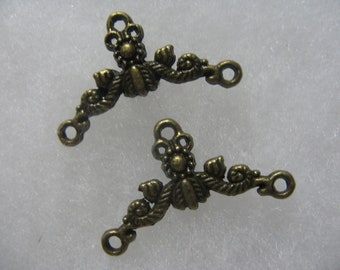 Bali Style Earring Drops 9 pair Very Cool Brass Plated