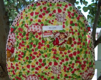 My Carrie Toddler Backpack made with Strawberry Shortcake Fabric