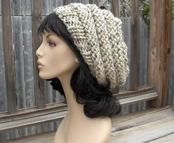 Slouchy Hat Beehive Hat Knit Beehive Womens Oversized Slouchy Women Slouchy Tam Hand Knit Beehive Slouchy Hat Handmade