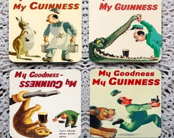 My Goodness My Guinness -- Vintage Advertising Mousepad Coaster Set