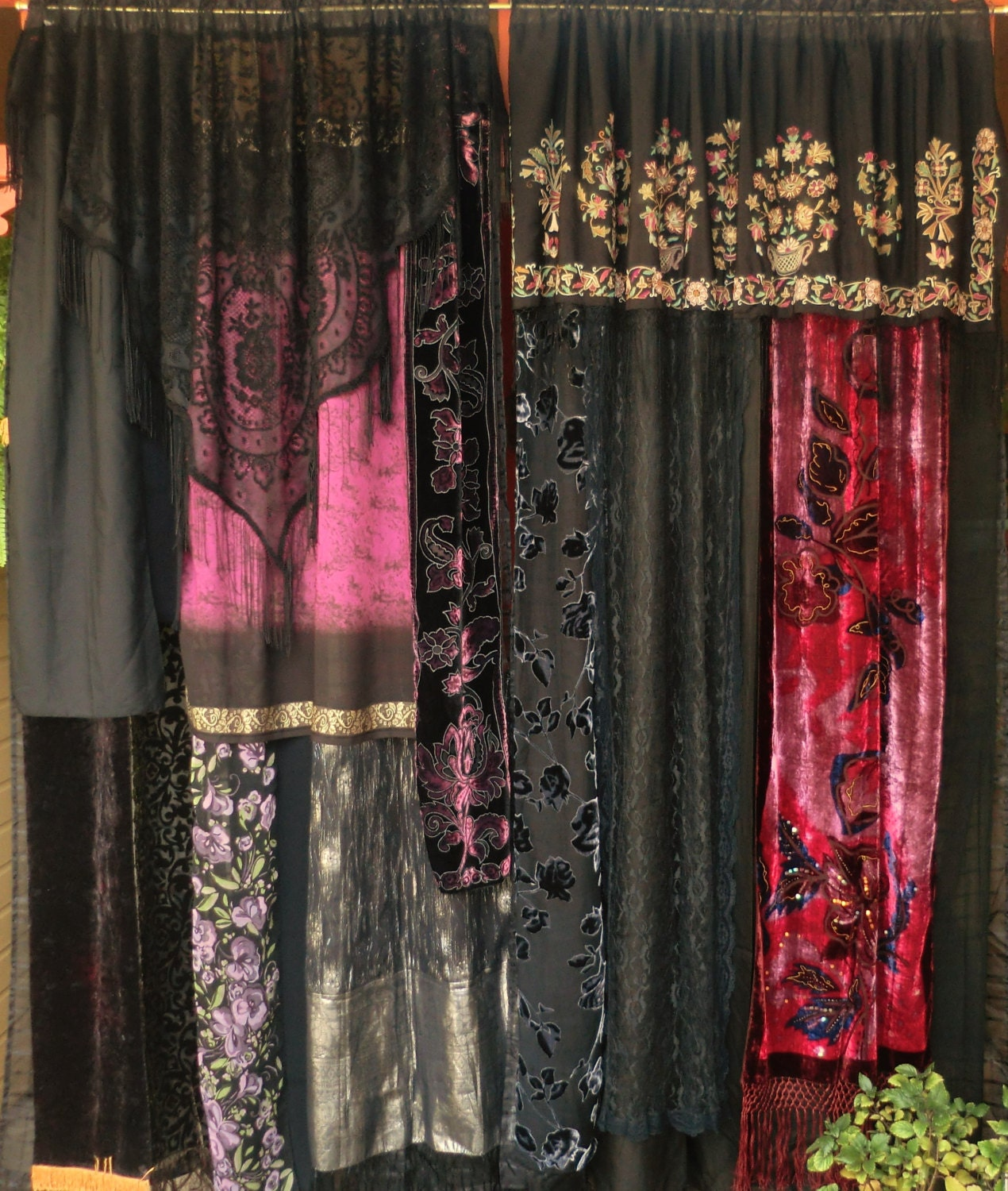 SIGN Of The GYPSY QUEEN Handmade Gypsy Curtains