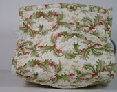 Tea Cozy, holly leaves quilted fabric