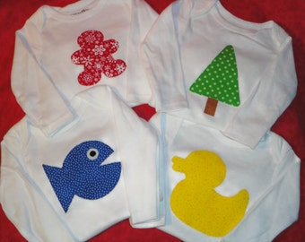 DIY Baby Shower..Make Your Own..ONESIE Party Pack..23 Baby Themed Applique TEMPLATE Patterns..Plus Easy To Follow Guest Instructions