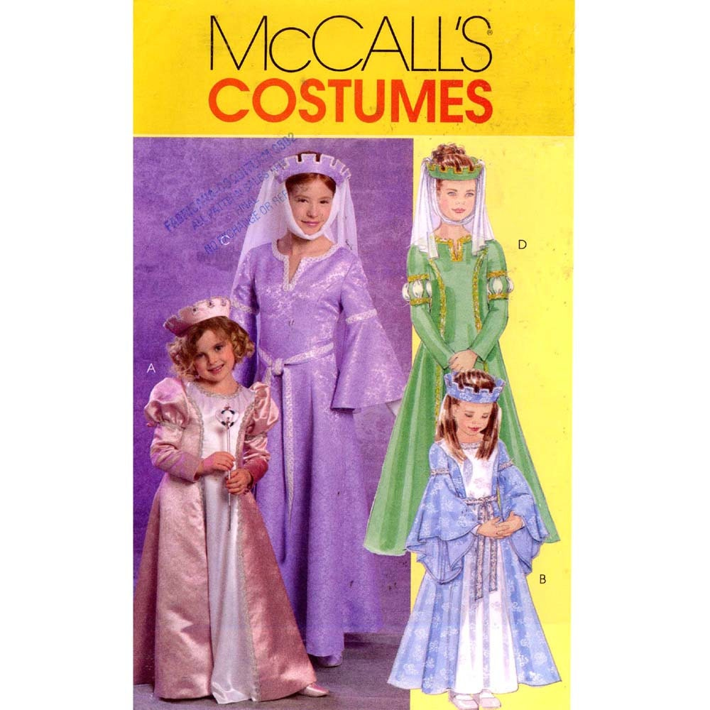 Renaissance Wedding Dress Costume History Mccall S By Heychica: Girls Maid Marian Style Princess Dress Costume Sewing Pattern