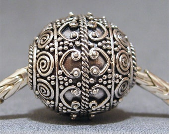 Sterling Silver Bead No. 11 Spacer European Charm Big Hole Bead