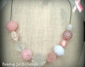 FOR CANCER - Beading for Birthdays - Pink Necklace