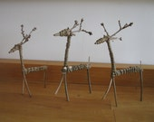 custom order for Pernille - 3 willow reindeer