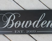 Family Name Sign, Last Name Sign, family Established wood sign personalized sign wedding gift