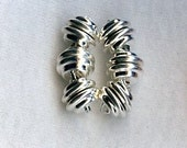 SUPER STRONG Magnet Clasp Silver Plate