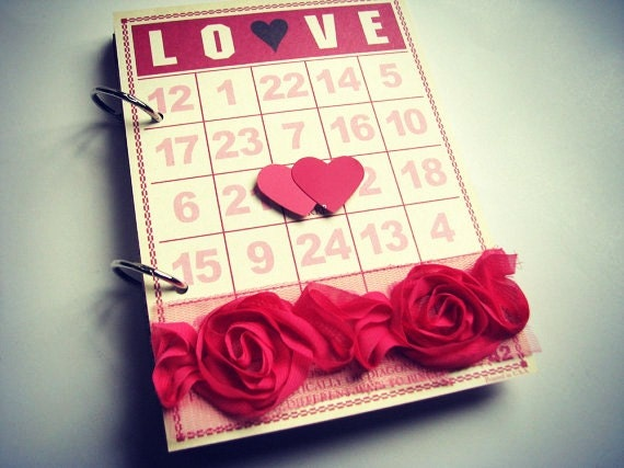 ON SALE LOVEly Premade 5 x 7 Mini Album Valentine's Day, Wedding, Love, Anniversary, Us