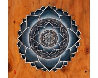 Stone Flower Print