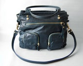 5 pocket Willow bag in petroleum green