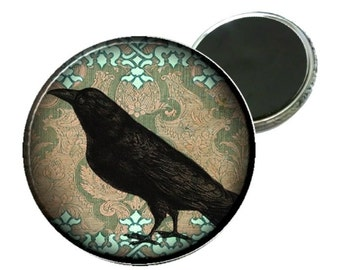 Magnet - Victorian Damask Crow Image