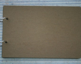 Long scalloped edge Chipboard Album 6 pgs w/book rings 8.5 inches x 5.5 inches