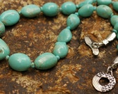 Rare Number 8 American Turquoise Necklace with Sterling Silver Components