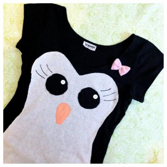 miss penguin short sleeve dress