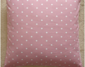 "24x24 Pillow Cover Large 24"" Polka Dot Cushion Sham Slip Case Pillowcase Pink White Polkadots dots New 24""x24"" Square"