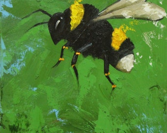 Print Bee 227 20x20 inch Print from oil painting by Roz