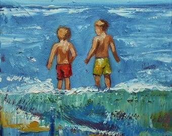 Print of Beach 88 10x10  by Roz