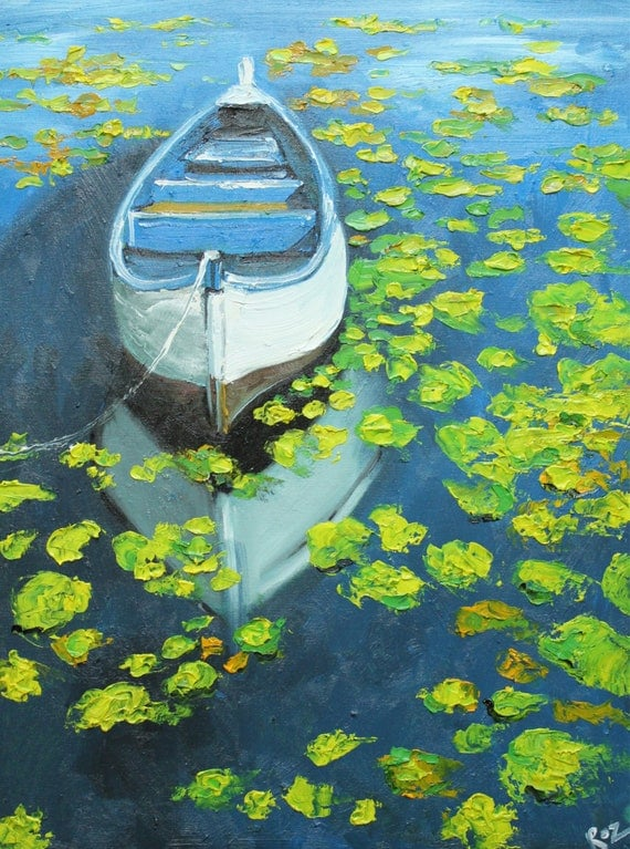 Print Boat 24 18x24 inch print of oil painting by Roz