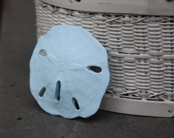 Shabby Cottage Beach Chic Blue Sand Dollar
