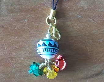 Flower Pot Cell Phone Charm / Zipper Pull