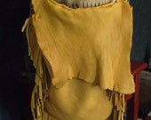 Elk Large Leather Fringe Bag