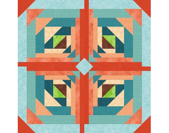 Paper Piecing Quilt Patterns Log Cabin : Logging On Paper Pieced Quilt Block Pattern log cabin quilt