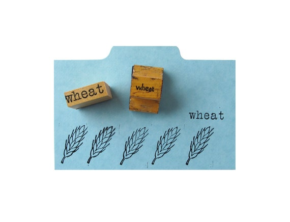 Vintage WHEAT Rubber Stamps - Set of 2
