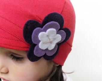 Kids red hat soft and comfy hat lightweight fashion children hat girl cloche flapper stylish handmade hat cozy cap cotton handmade hat